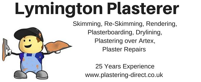 lymington plasterer - skimming, plaster repairs, plastering direct website image SO41 9AP