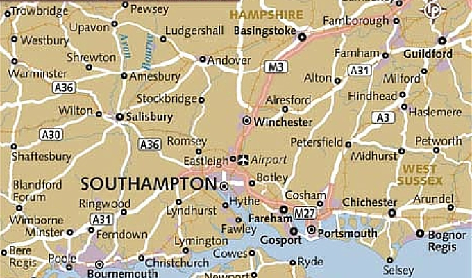 southampton map plasterers area covered